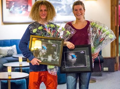 Cedrik Fonn Skåre og Aud Julie Befring var dei første som fekk Furorestipend 2012.